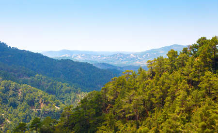 Troodos mountains located in the Western part of the island of Cyprus Standard-Bild