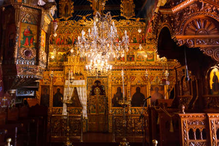 Trooditissa monastery, Cyprus - July 20, 2019:Monastery of the Cyprus Orthodox Church, located in the Troodos mountains. In the monastery there are two shrines: the miraculous icon of the mother Of God