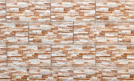 Brown ceramic tile with imitation of natural stone texture Standard-Bild