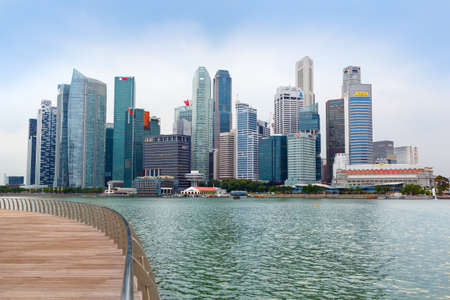 SINGAPORE-November 25, 2019: Skyscrapers of the business center of Singapore in the afternoon