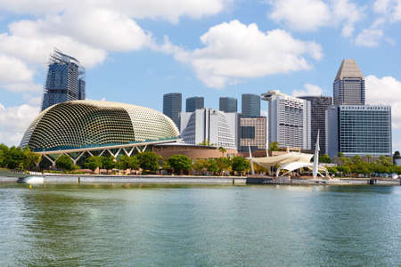 SINGAPORE-November 26, 2019: Singapore cityscape and Theatre and Concert Hall, Esplanade on the Bay. Famous place for tourists and travelers