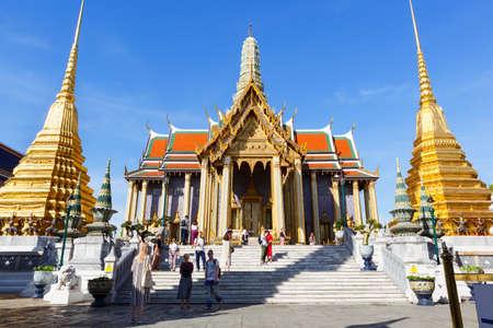 Thailand, Bangkok-December 2, 2019: Wat Phra Kaew, Temple of the Emerald Buddha Editorial