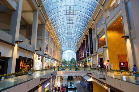 SINGAPORE-November 25, 2019: Marina Bay Sands shopping mall