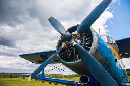 aerodrome: Propeller plane on the aerodrome