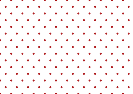 Small red polka dots on white background seamless pattern