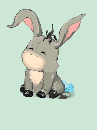 donkey. Vector
