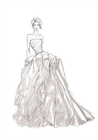 Illustration for a wedding girl