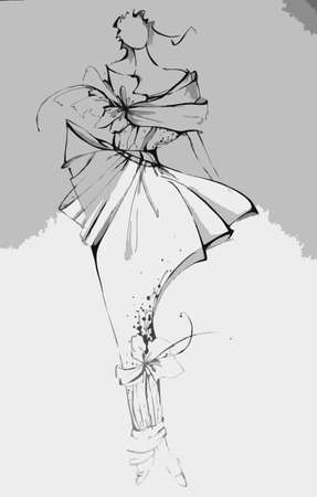 Fashion illustration Ilustracja