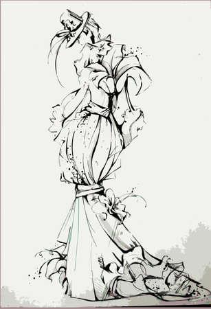 illustrazione moda: Fashion illustration Vettoriali