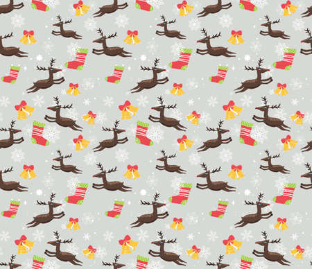 Christmas Card and pattern Vector