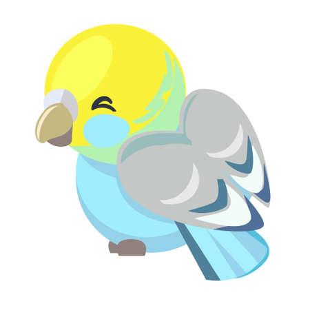 Cute Bird Vector Illustration. Textile Design Print for Newborn