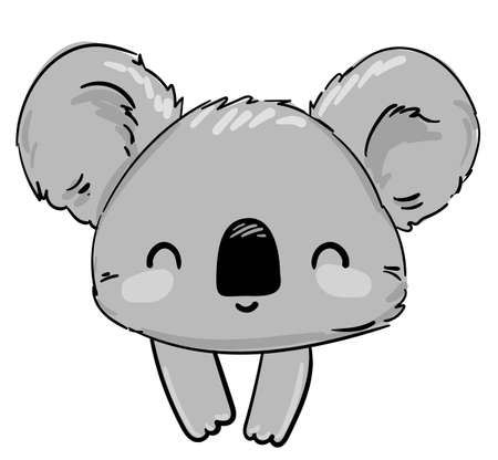 Koala Beautiful Cute childish illustration. vector illustration. Ilustracja