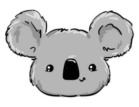 Koala Beautiful Cute childish illustration. vector.