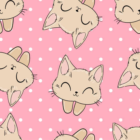 Cute cat on a pink background.