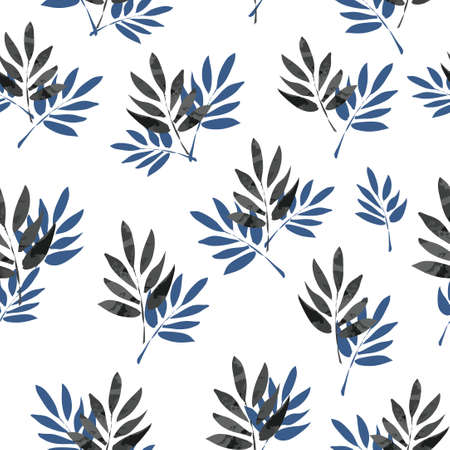 Seamless pattern branches with leaves. Design Beautiful print with leaves for textile vector. Illusztráció