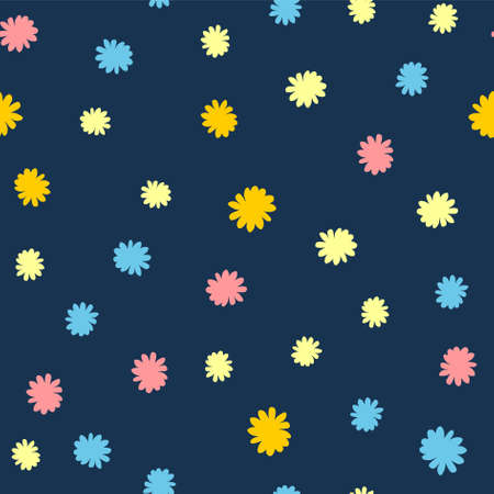 flowers background print design for textile fabric background vector
