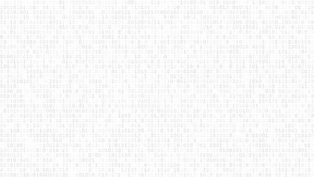 Abstract light background of zeros ad ones in white and gray colors.