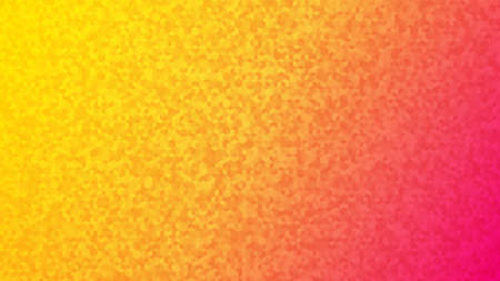 Abstract background of small isometric cubes in yellow and pink colors.
