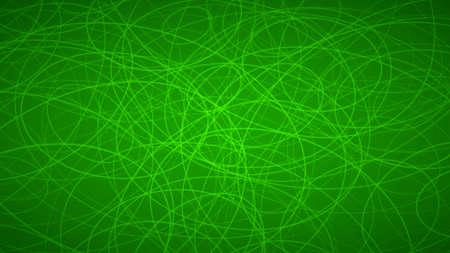 Abstrait de contours disposés au hasard d'élipses dans des couleurs vertes.