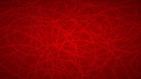 Abstrait de contours disposés au hasard des élipses dans les couleurs rouges.