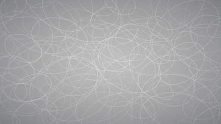 Abstract background of randomly arranged contours of elipses in gray colors.