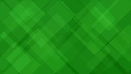 Abstarct background of translucent squares or rhombuses in green colors