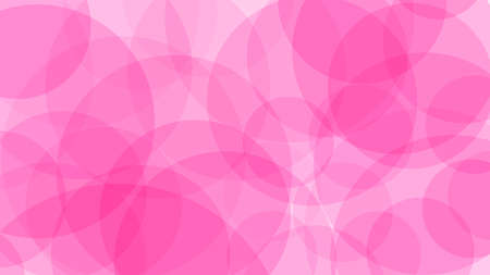 Abstarct background of translucent circles in pink colors