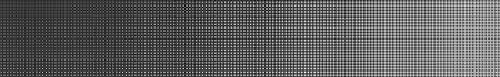 Abstract halftone gradient horizontal banner in gray colors