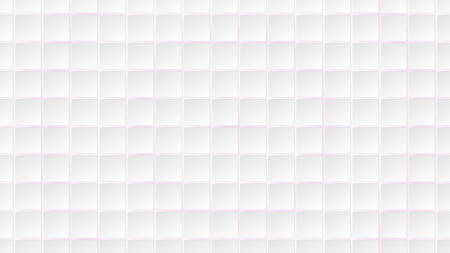 Abstract background of white square tiles with purple gaps between them
