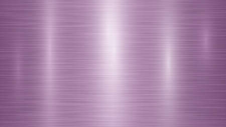 Abstract metal background with glares in purple colors Illusztráció