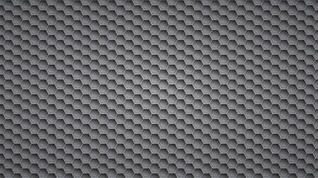 Abstract metal background with hexagonal holes in gray colors 일러스트
