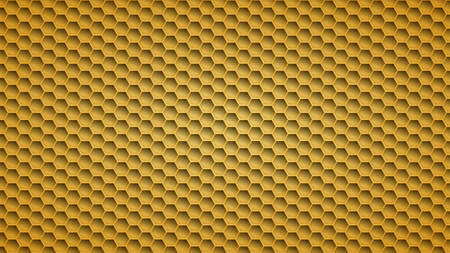 Abstract metal background with hexagonal holes in yellow colors 일러스트