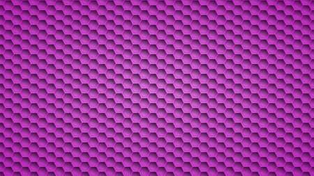 Abstract metal background with hexagonal holes in purple colors