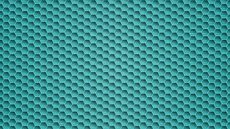Abstract metal background with hexagonal holes in light blue colors 일러스트