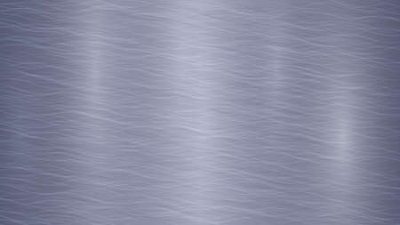 Abstract metal background with glares in blue and gray colors