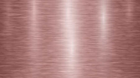 Abstract metal background with glares in red and bronze colors