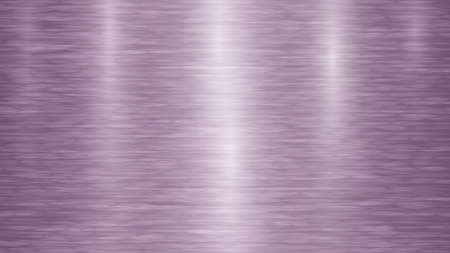 Abstract metal background with glares in purple colors