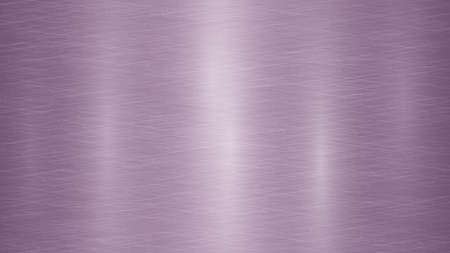 Abstract metal background with glares in purple colors Çizim