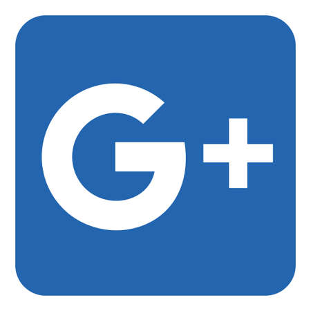 VORONEZH, RUSSIA - 21 NOVEMBRE 2019: Icona quadrata del logo Google Plus in colore blu Editoriali