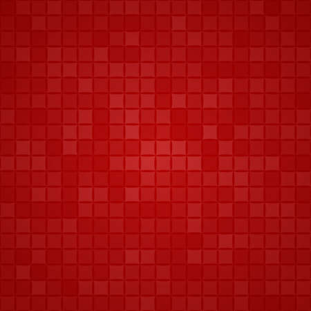 Abstract background of small squares or pixels in red colors