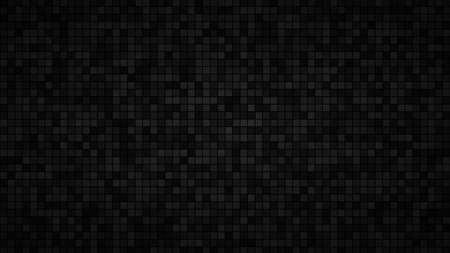 Abstract background of small squares or pixels in black and gray colors Ilustração Vetorial