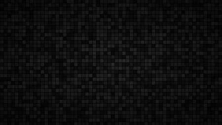 Abstrakter Hintergrund aus kleinen Quadraten oder Pixeln in schwarzen und grauen Farben Vektorgrafik