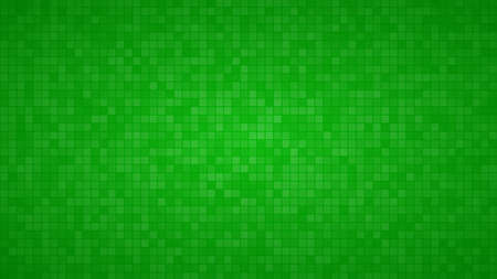 Abstract background of small squares or pixels in green colors