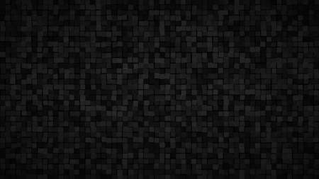 Abstract background of small squares or pixels in black and gray colors