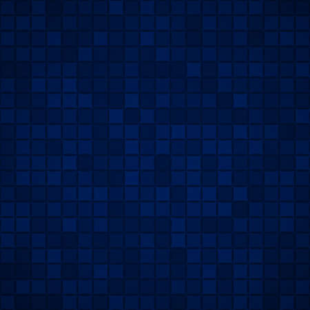 Abstract background of small squares or pixels in dark blue colors