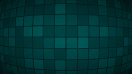 Abstract background of small squares or pixels in dark turquoise colors