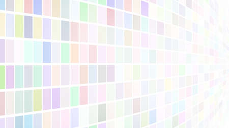 Abstract illustration of small multicolored squares or pixels on white background