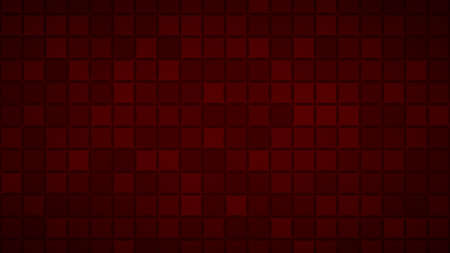 Abstract background of small squares or pixels in dark red colors