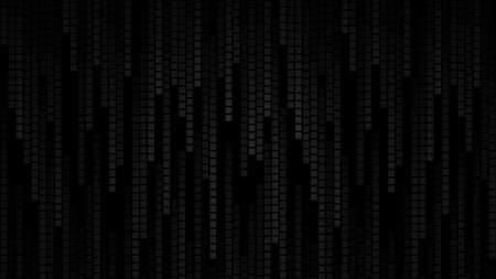 Abstract background of small squares or pixels in shades of black and gray colors