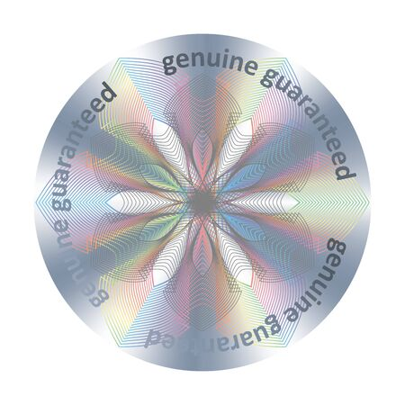 Round hologram sticker. Vector element for product quality guarantee 矢量图像